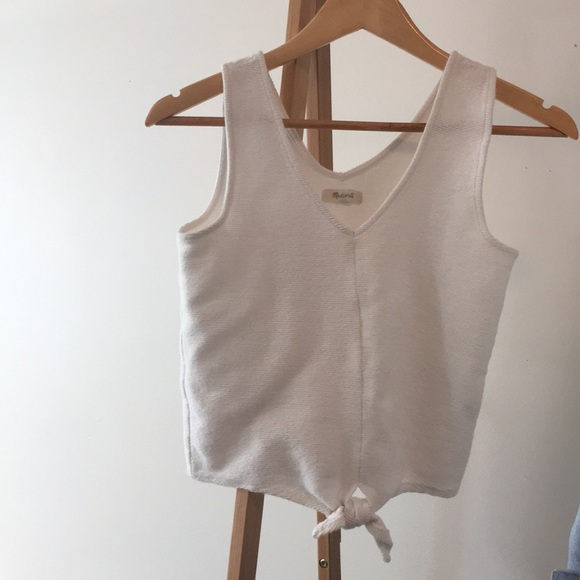 713d452f66a Madewell Texture and thread tie front tank top. M_5b81b7d30945e063787325b3